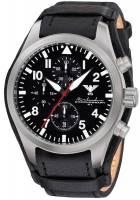 KHS Airleader Steel Flieger Chronograph mit Lederband KHS.AIRSC.R