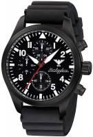 KHS Airleader Black Steel Chronograph mit Kautschukband KHS.AIRBSC.DB