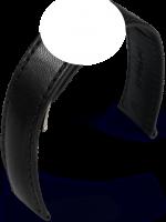 Maurice Lacroix Pontos Lederarmband schwarz ohne Schliesse 21mm 2915